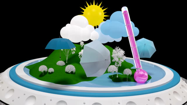WEATHER Theme. Motion graphics. With alpha channel. video