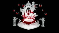 LOVE, VALENTINES DAY, WEDDING Theme. Motion graphics. With alpha channel. video
