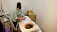Therapist applying lipo massage video