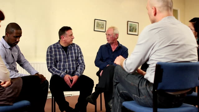 Therapy / Discussion group, Counselling, Man talking video