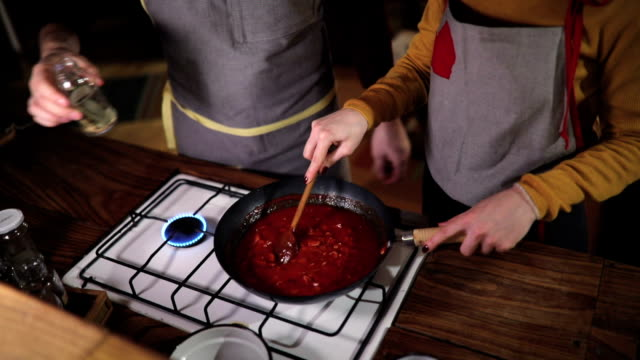 There's nothing more fun than cooking with your man video