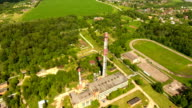 Thermal power plant.Aerial view video