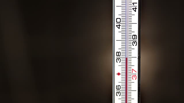 thermometer measures the fever rising video