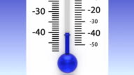 Thermometer with decreasing temperature. video