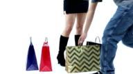 Thief Stealing Shopping Bags video