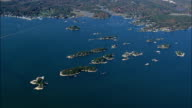 thimble Islands From High Up  - Aerial View - Connecticut,  New Haven County,  United States video
