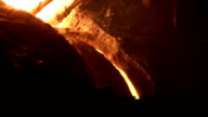 Thin stream of the molten metal video
