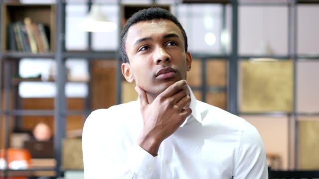 Thinking Black Man in Office, Brainstorming video