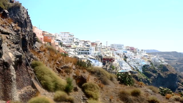 HD: Thira town, Santorini, Greece video