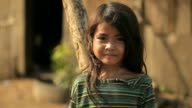 Thoughtful little girl in Cambodia video