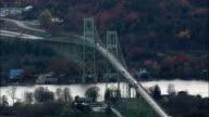 thousand Islands Bridge - Aerial View - New York,  Jefferson County,  United States video