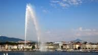 Three beautiful views of city of Geneva video