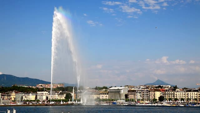 Three beautiful views of city of Geneva video