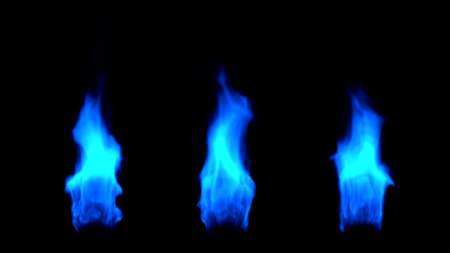 Three Blue Flames video
