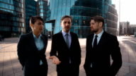 Three business people reproach negative and reject Your opinion video