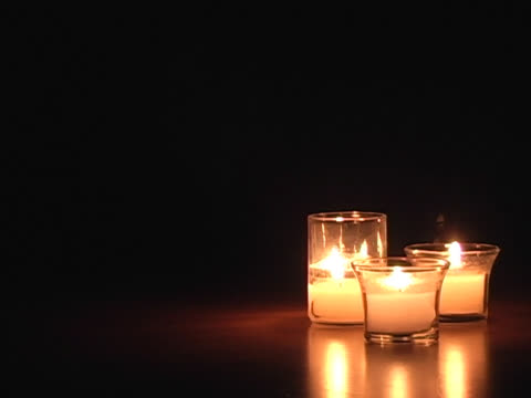 Three Candles in blackness (works for HD) video