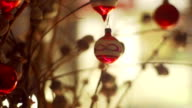 Three clips of christmas decorations   CH video
