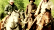 Three Cowboys riding horseback video