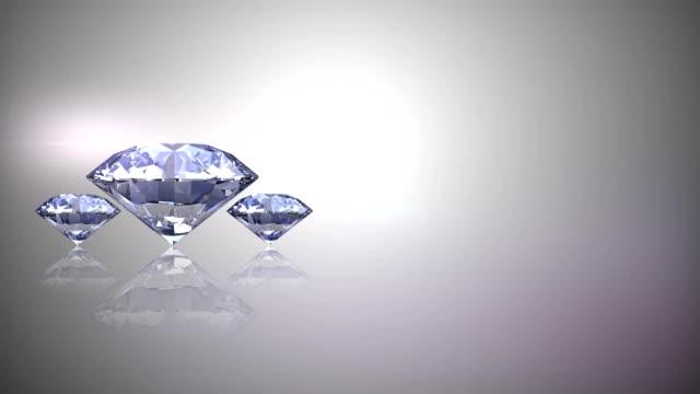 Three diamonds rotates loop animation video