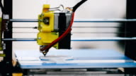 Three dimensional 3D printing machine in action video