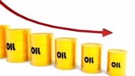 HD: Three Dimensional Falling Oil Price video