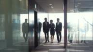 Three Entrepreneurs Briefing (slow motion) video