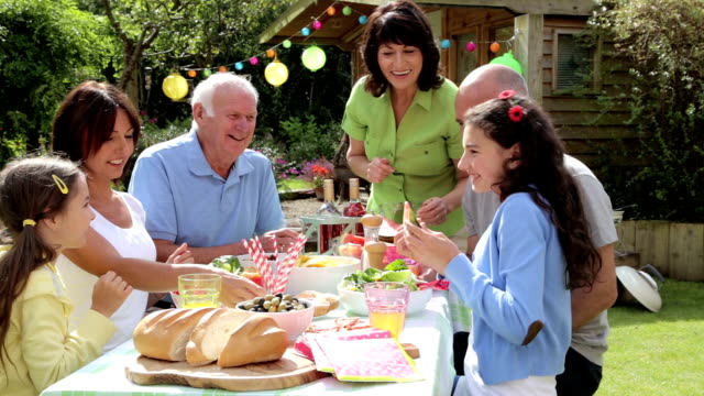 Three Generation Family Barbecue video