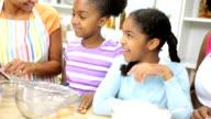 Three Generations Ethnic Females Kitchen Baking video