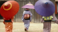 Three Generations of Edo Period Women (slow motion) video