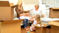 Three Generations of Family Unpacking After House Move video