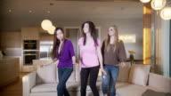 Three girls dance video