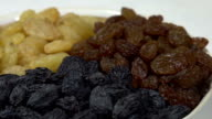 Three Kinds of Raisins in a Bowl video