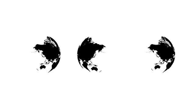 Three rotating world globes, 1080p HD. video