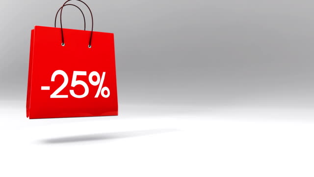 Three Shopping Bags - discount sale 25% 50% 80% video