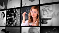 Three short clips about lab assistants in labor video
