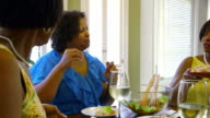 three sisters at a lunch get together video