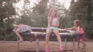 Three sisters playing at a playground video