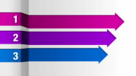 Three square arrow bar, intro title box chart video