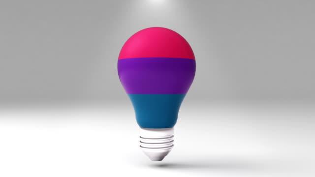 Three title 3D bulb shape box, visualization shape a light bulb, presentation templete. video