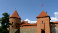 Three towers of the old castle from Trakai video