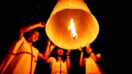 Three Traditional Girls release floating lantern video