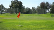 Three videos of golf field in 4K video