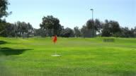 Three videos of golf field in San Diego in 4K video