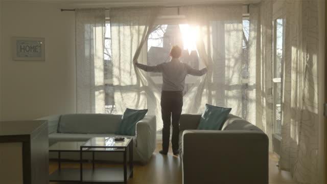 Three videos of sunny morning in 4K video