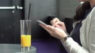 Three videos of woman using phone in 4K video