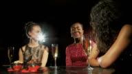 three women at bar video