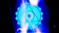 Throat Chakra Vishuddha Mandala Spins in Energy Field video