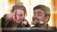 Through the computer screen video