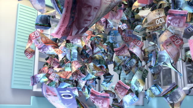 Throwing Canadian Money out the Window video