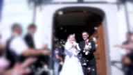 HD SUPER SLOW-MO: Throwing Flowers At The Newlywed video